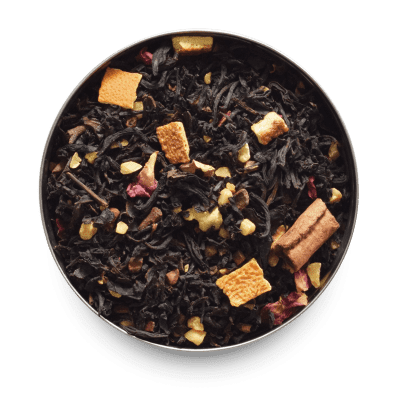 Autumn Fire Black Loose Leaf Tea with cinnamon, rose petals and orange peel