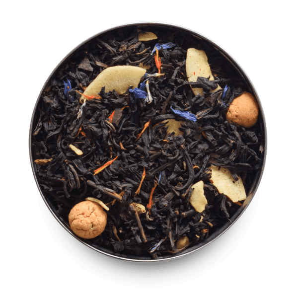 Butter Truffle Loose Leaf Black Tea with amarettini biscuits and almonds