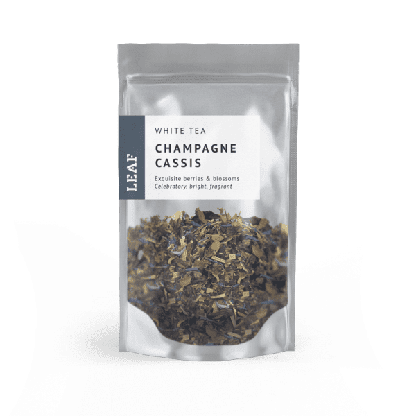 Champagne Cassis White Loose Leaf Tea Small Two Taster Bag
