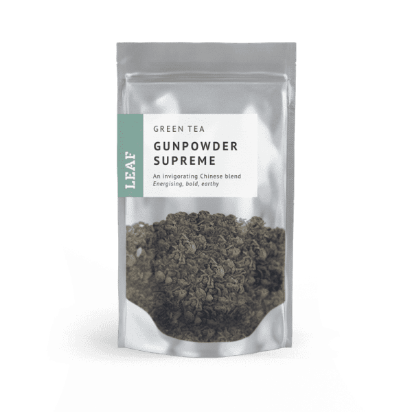 Gunpowder Supreme Green Loose Leaf Tea Small Two Taster Bag