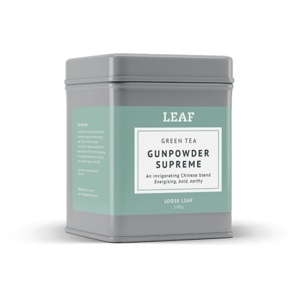Gunpowder Supreme Green Loose Leaf Tea Tin