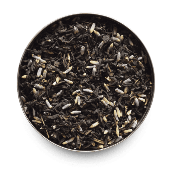 Lavender Grey Loose Leaf Black Tea Leaves with Lavender Blossom Bits