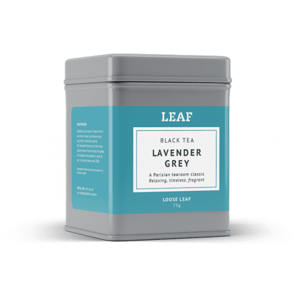 Lavender Grey Black Loose Leaf Tea Tin