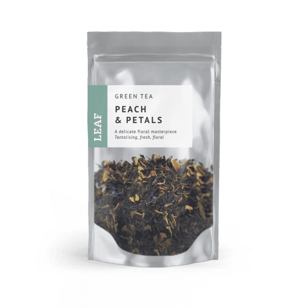 Peach and Petals Green Loose Leaf Tea Small Two Taster Bag
