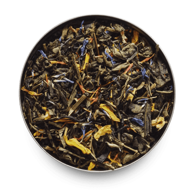 Peach Petals Loose Leaf Green Tea Leaves