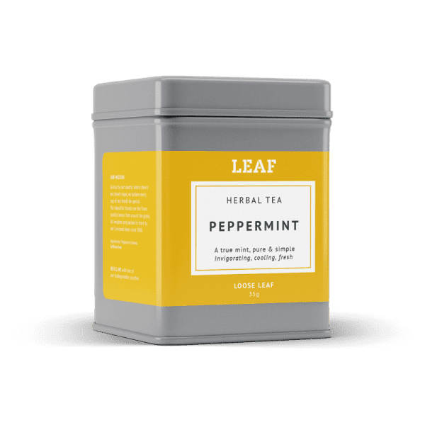 Peppermint Herbal Loose Leaf Tea Tin