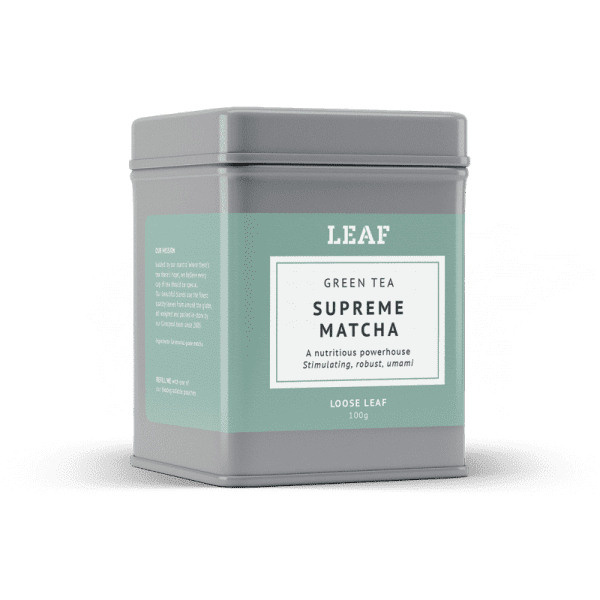 Supreme Matcha Green Loose Leaf Tea Tin