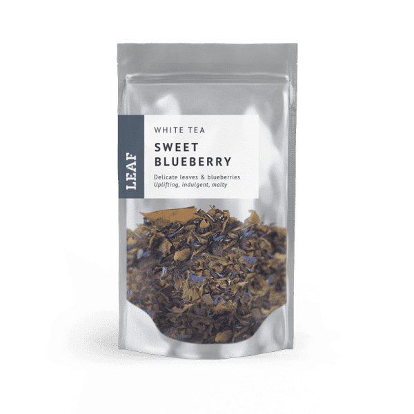 Sweet Blueberry White Loose Leaf Tea Small Two Taster Bag