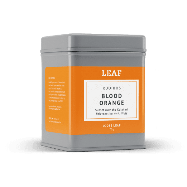 Blood Orange Rooibos Loose Leaf Tea Tin
