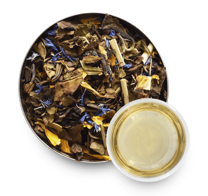 Champagne Cassis White Tea with Loose Leaf Tea Leaves