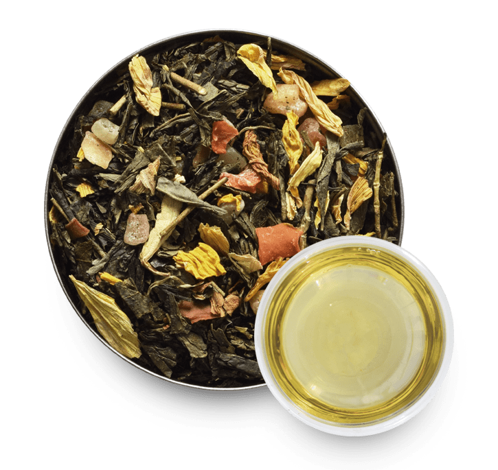 Exotic Garden Green Tea with Loose Leaf Tea Leaves