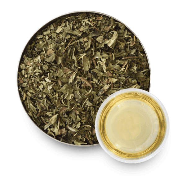 Peppermint Herbal Tea with Loose Leaf Tea Leaves