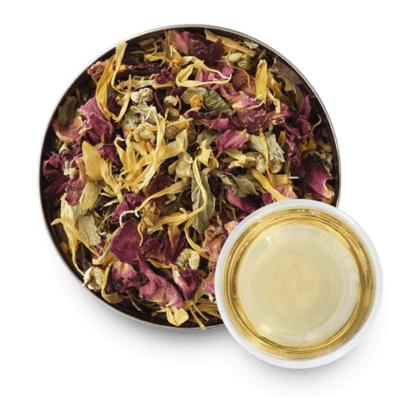 Secret Gardens Herbal Tea with Loose Leaf Tea Leaves