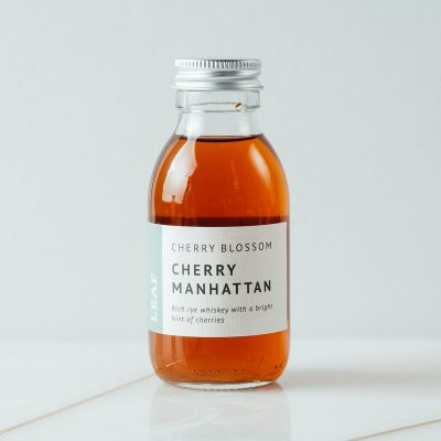 Cherry Blossom, Cherry Manhattan Bottled Tea Cocktail