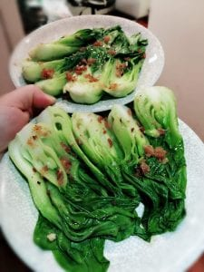 Steamed Bak Choi - Chinese dish