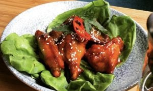 Sweet and sour chicken wings - Chinese dish