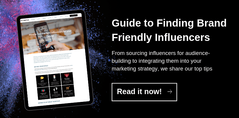 Finding the right influencers for your brand