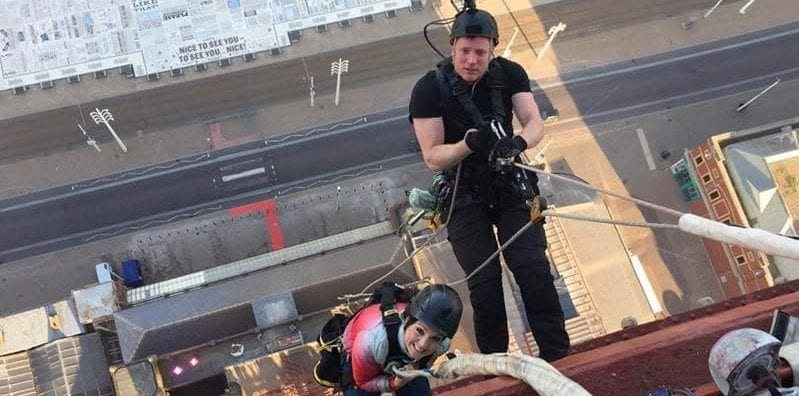 scaling blackpool tower laura tobin gmb