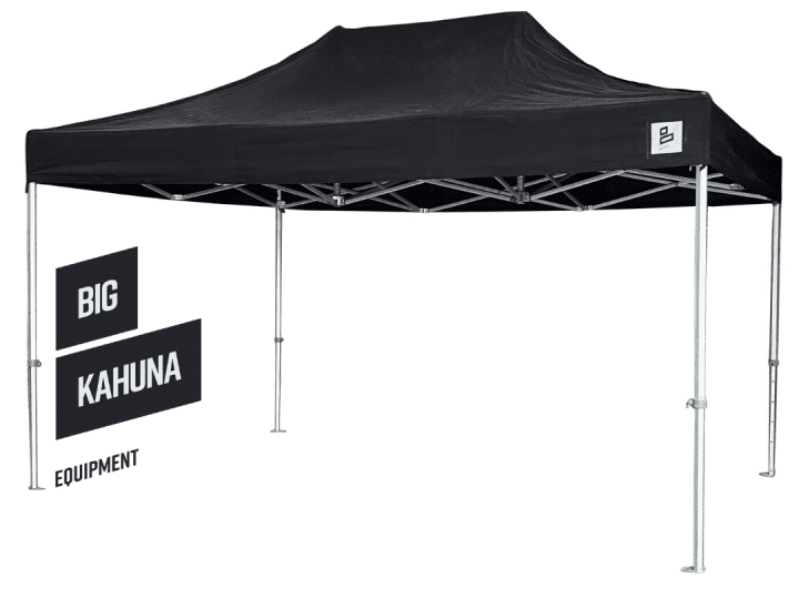 Big Kahuna pop up black gazebo 4.5m x 3m