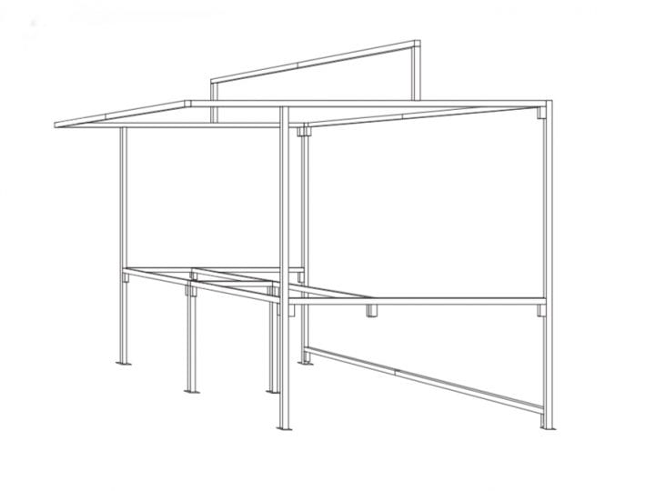 Image showing the structure of a food market stall - The Vincent