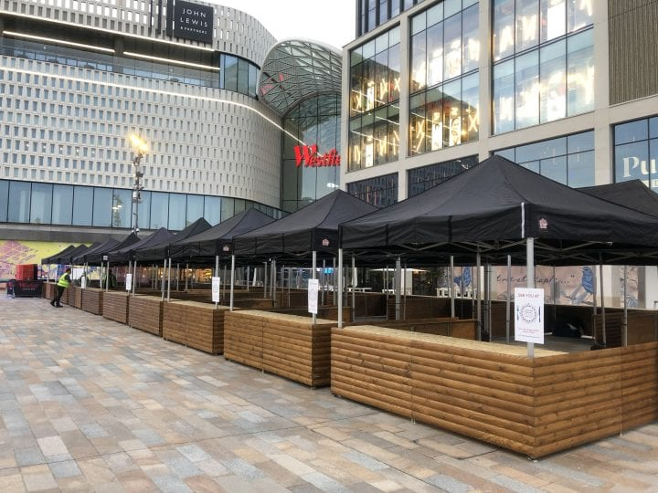Big kahuna market stalls outside the Westfield