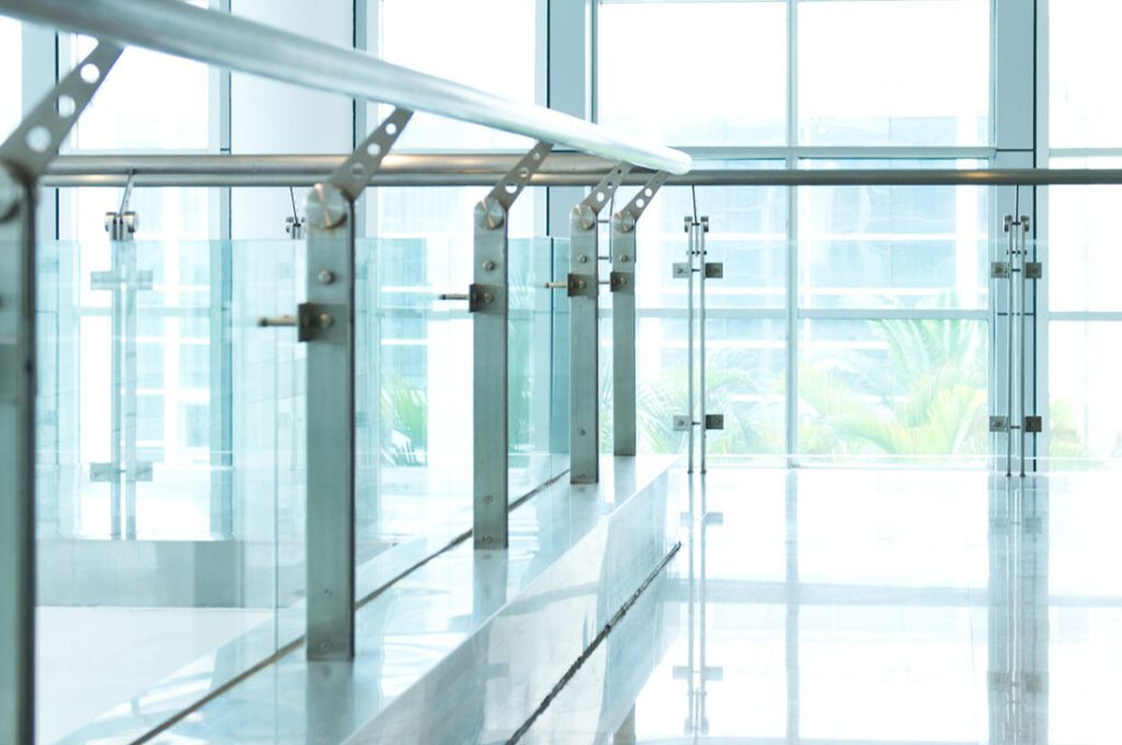 Image showing glass balustrades