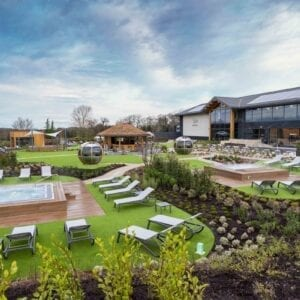 The outdoor area of the Carden park spa
