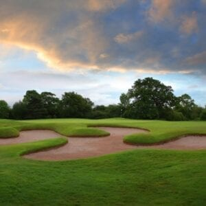 A golf course bunker at Carden park