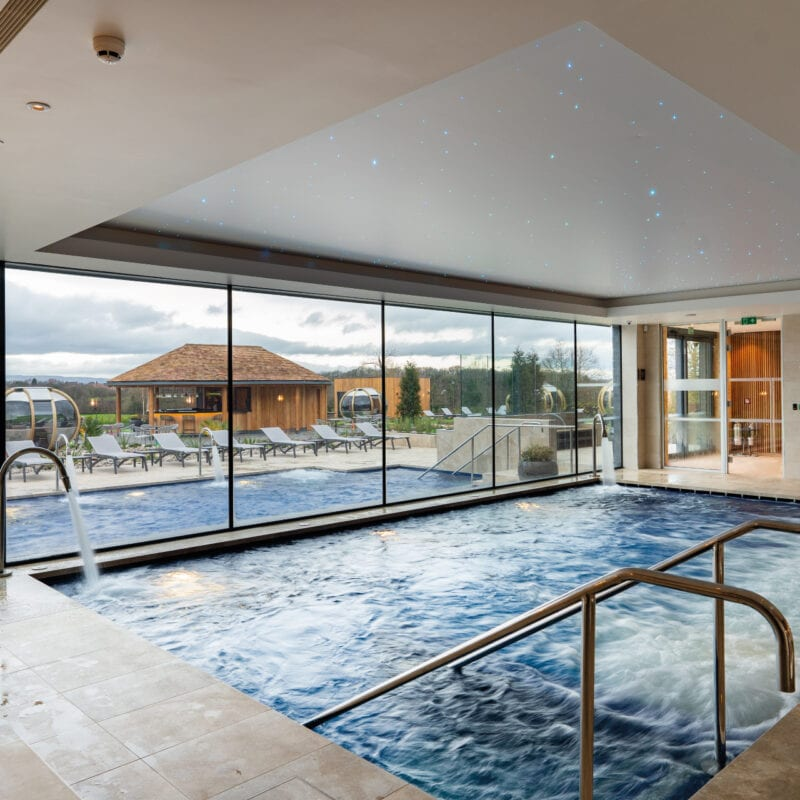 The indoor pool at Carden park spa