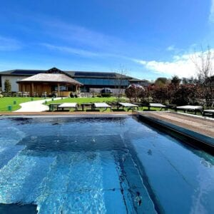 A thermal pool outside of the Carden Park Spa