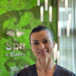 A spa therapist at Carden Park Spa