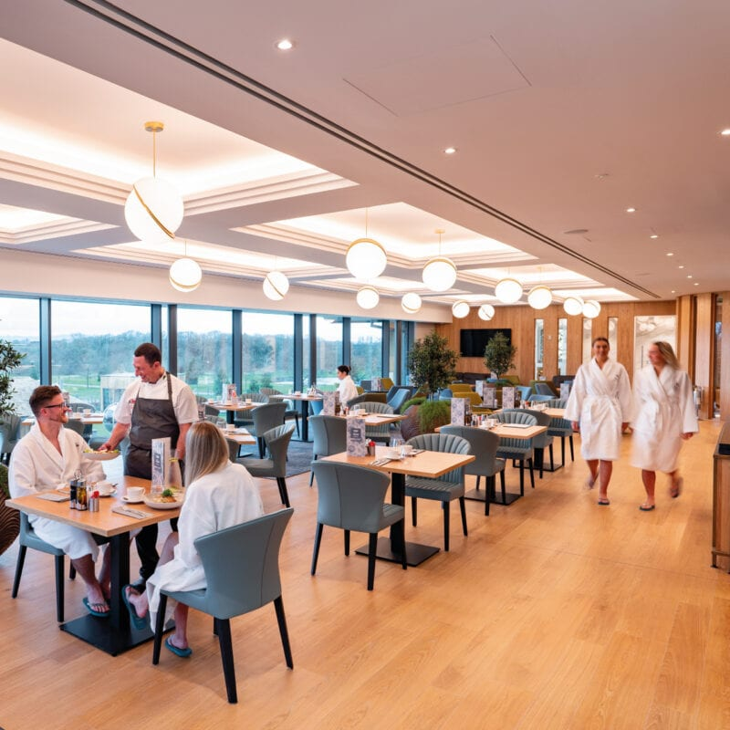 The restaurant at Carden park spa with couple dining