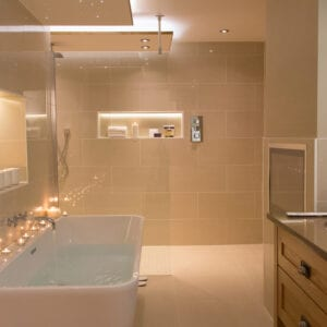A bathroom from the Carden Park Suite