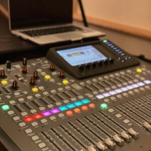 AV Audio setup in the business and conference room