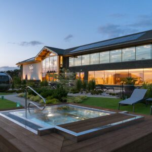 Carden Park spa with a hot tub in front