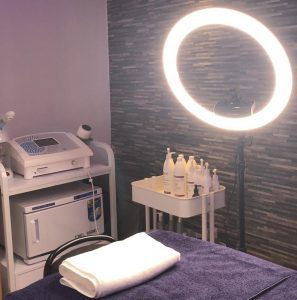 A beauty clinic bed