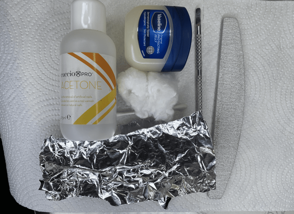 tools needed to remove acrylics at home